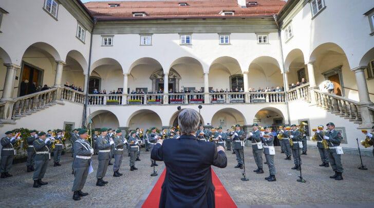 Der Festakt zum heutigen Jubiläum der Volksabstimmung fand in Klagenfurt statt.