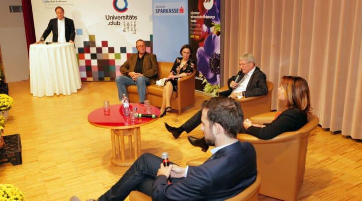 Horst Peter Groß (Uniclub), Wolfgang Kleemann (HT), Ulrike Rauch-Keschmann (BMLRT), LH Peter Kaiser, Sandra Venus (KWF) und LR Sebastian Schuschnig.