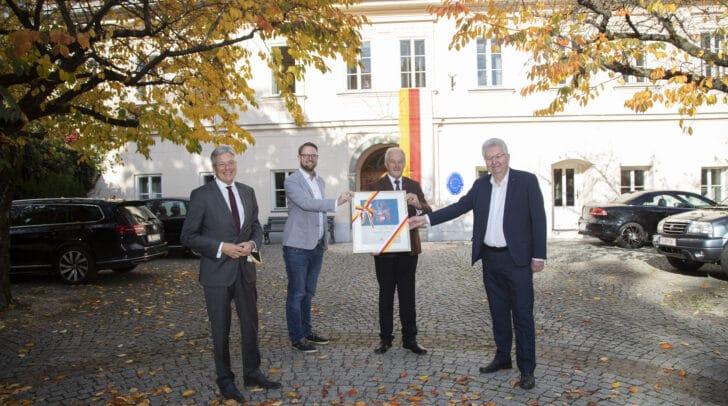 LH Peter Kaiser, GF Marc Germeshausen, Vizepräsident Rudolf Schober und Präsident Valentin Petritsch