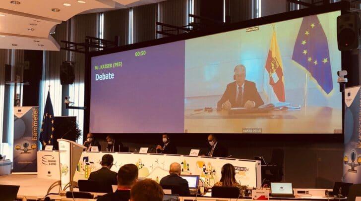 Videokonferenz anlässlich der EU-Plenartagung des Ausschusses der Regionen.
