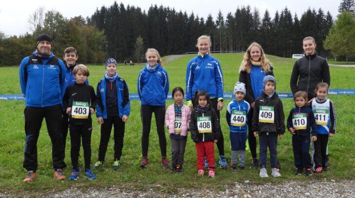 Ein Teil der LC Villach Mannschaft betreut von Franziska Pekastnig und Wolfgang Albel
