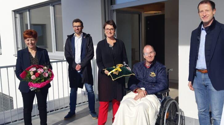 Schlüssel Übergabe im Sozialzentrum Wernberg mit LHStv.in Beate Prettner.