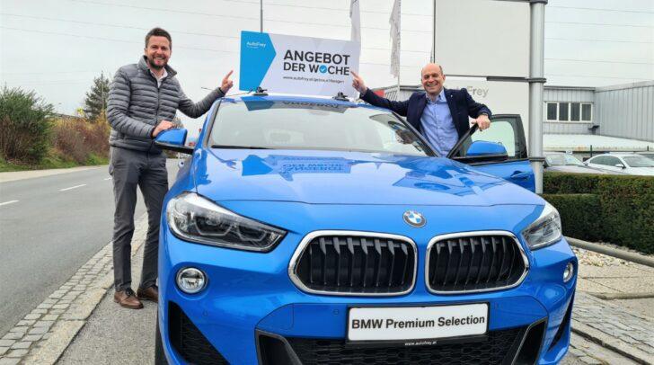BMW-Verkäufer Martin Podesser und Standortleiter Markus Kipple (v.l.) freuen sich auf deinen Besuch bei AutoFrey in Villach (nach dem Lockdown).