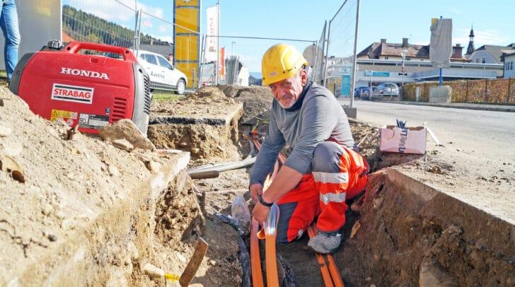 Durch den Glasfaser-Ausbau wird ein schnelleres Internet in der Stadtgemeinde Spittal ermöglicht.