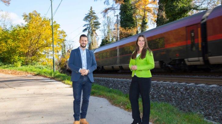 Landesrat Sebastian Schuschnig und Bürgermeisterin Silvia Häusl-Benz.