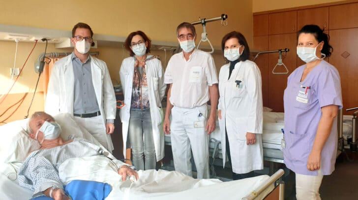 Erster Patient, der die Untersuchung tagesklinisch durchführen ließ, war Franz S.