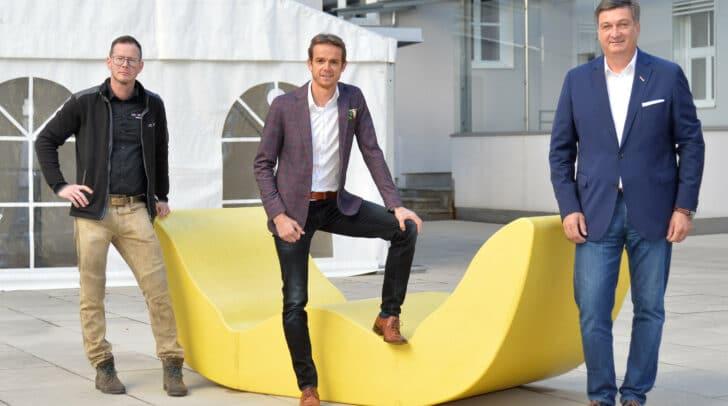 Rotfuchs-Chef Hannes Dopler, WK-Marketingleiter Markus Polka und WK-Präsident Jürgen Mandl setzen sich für die Kärntner Eventbranche ein
