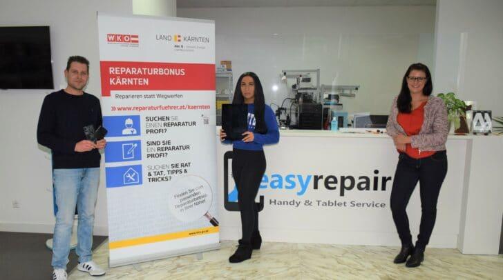 """Die Firma """"easyrepair"""" in Villach ist einer von rund 80 Kärntner Betrieben, die auf www.reparaturfuehrer.at zu finden sind."""