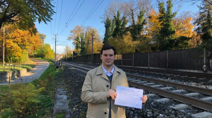 Der Vorstoß von Florian Pacher war erfolgreich. Ein wichtiger Schritt gegen Bahnlärm wurde nun vom Gemeinderat auf Schiene gebracht.