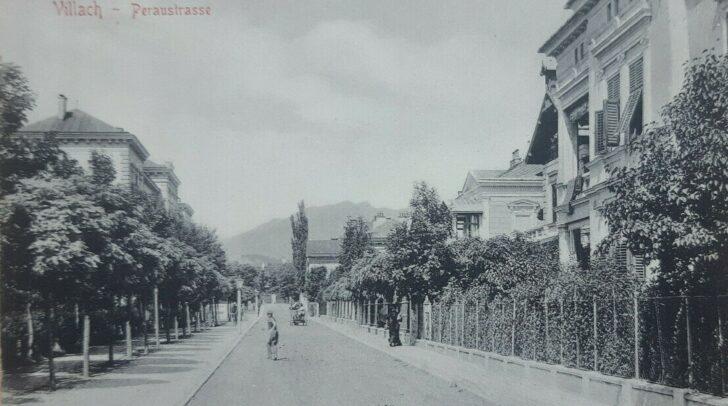 So sah die Peraustraße früher aus.