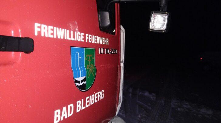 Im Einsatz standen die FF Bad Bleiberg und die FF Kreuth.