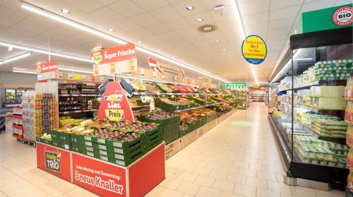 Mit einer modernen Raumgestaltung und neuen Farben soll in Wolfsberg ein angenehmes Einkaufserlebnis geschaffen werden.