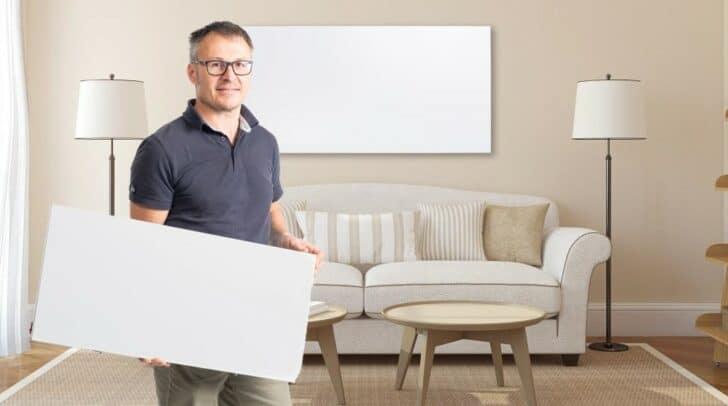 Geschäftsführer Mario Schwagerle garantiert eine angenehme Wohlfühlwärme durch Infrarotheizungen.