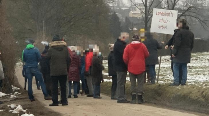 Protest am Kreuzmoosweg