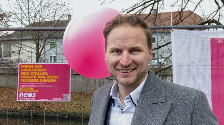 Janos Juvan, Obmann des NEOS Klagenfurt Rathausklubs