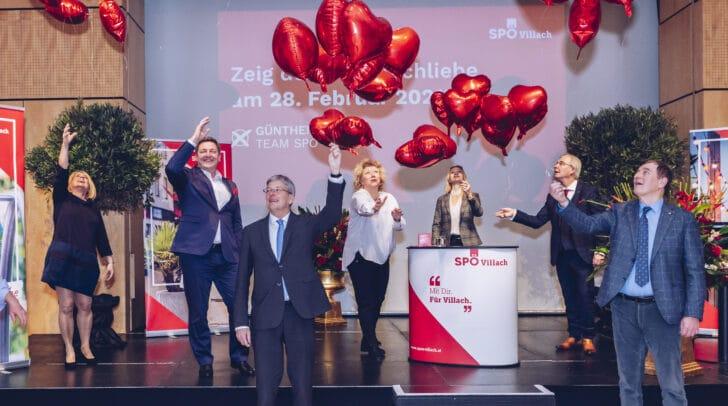 Hochrangige SPÖ-Mitgleider beim heutigen Wahlauftakt der SPÖ Villach.