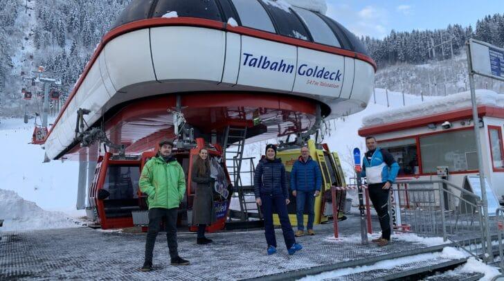 Christopher Beck (Goldeck Skischule und Sportartikelverleih), Andrea Samonigg-Mahrer (KH Spittal), Stefanie Hopfgartner (Goldeck Bergbahnen), Gerald Bruckmann (KH Spittal), Thomas Schell (Sozialhilfeverband Spittal/Drau)