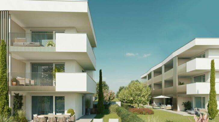 Sonne pur: Dank geschickter Planung sind die Balkone und Terrassen des gesamten Projektes nach Süden und Westen ausgerichtet.