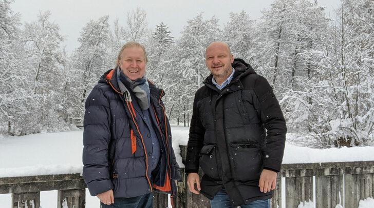 Am Bild: Ehemaliger NEOS-EU-Spitzenkandidat Christian Pirker und früheres NEOS Kärnten-Gründungsmitglied Boris Wolschner