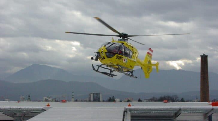 Die verletzte Wanderin wurde mit dem Rettungshubschrauber C11 in das UKH Klagenfurt geflogen.