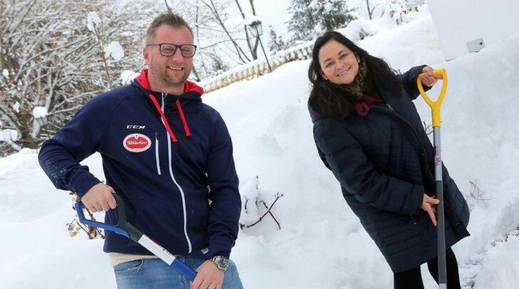 Claudia Boyneburg-Spendier unterstützt die Villacher Interessensgemeinschaft mit Gründer Andy Glantschnig.