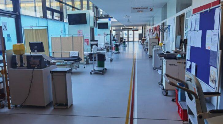 Seltener Einblick: In den Corona-Stationen am Klinikum Klagenfurt kehrt langsam wieder Ruhe ein.