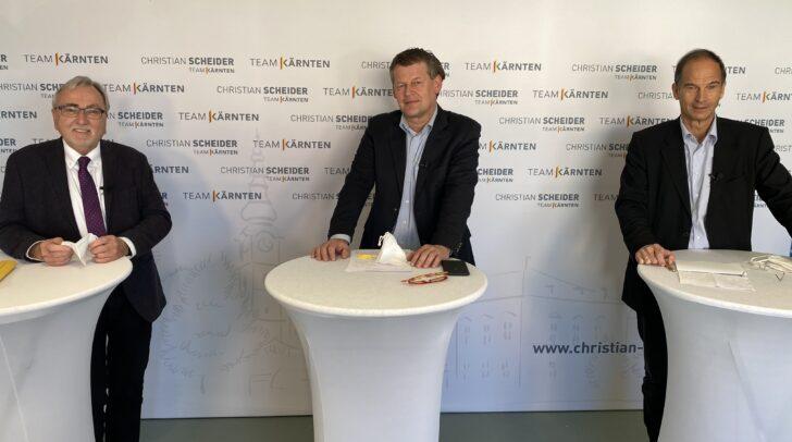 Am Bild v.l.: em. Univ.-Prof. Heinrich C. Mayr, Christian Scheider und Ex-Stadtwerke-Vorstand Romed Karré.