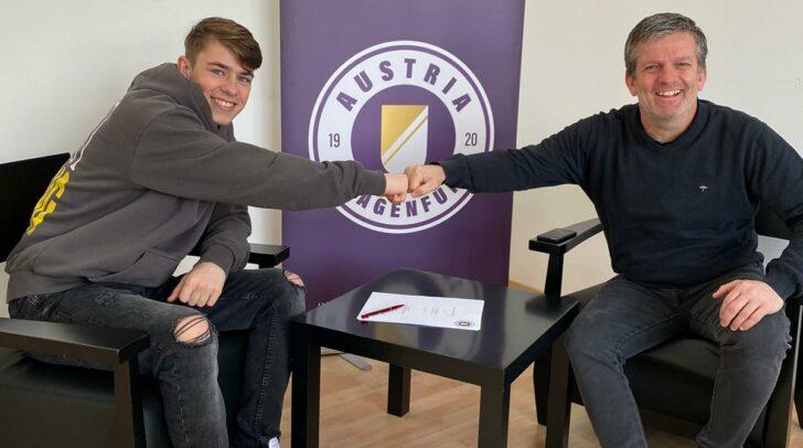 v.l.n.r.:  Tim Maciejewski mit Geschäftsführer Sport Matthias Imhof