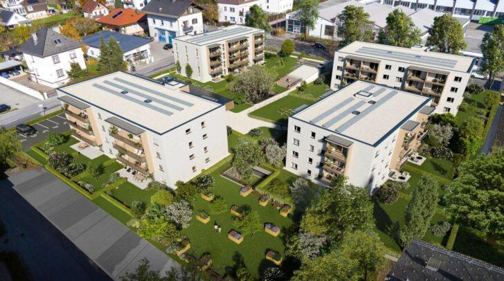 Hier entstehen vier ökologisch nachhaltige all-in99 Wohnanlagen in Holzmassivbauweise.