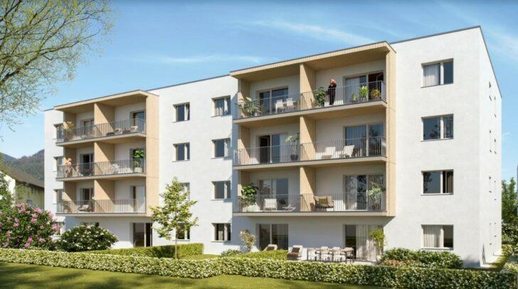 Alle Wohnungen sind mit Terrasse und Eigengarten bzw. Loggia mit Balkon ausgestattet.