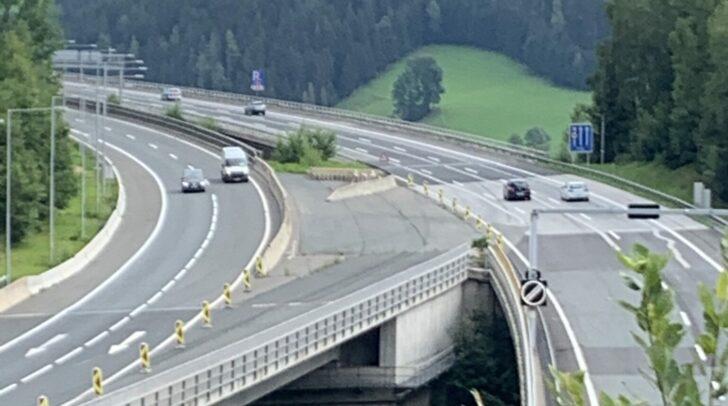 Der Talübergang Lavant hat eine maximale Höhe von 165 Metern, die Brücke Richtung Wien wird heuer generalsaniert.