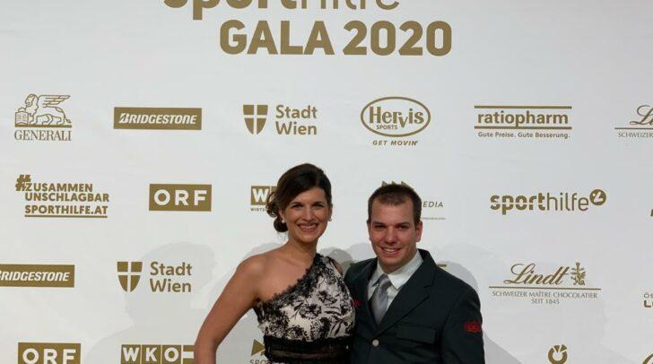 Markus Salcher mit seiner Partnerin Lisa Wieland