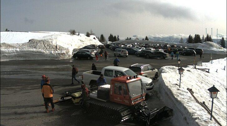 Aktuelle Situation auf dem obersten Parkplatz.