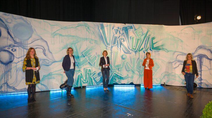 v.l.n.r.: Andrea Springer, Christina Hirschl, LHStv.in Gaby Schaunig, Antonia Gössinger und Ilse Grabner