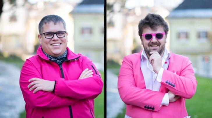 NEOS-Gemeinderatswahl-Kandidat Christoph Wriessnegger (links) und Spitzenkandidat in Villach, Bernhard Zebedin, möchten die Amtswege in der Draustadt erleichtern.