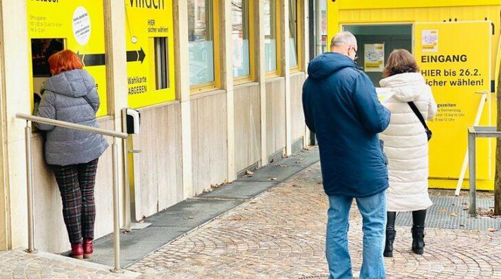 Über 11.600 Villacherinnen und Villacher haben bereits gewählt. Das entspricht rund 40 Prozent der Wahlbeteiligung im Jahr 2015.