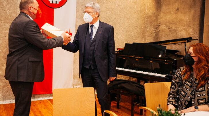 Bürgermeister Josef Kronlechner und LH Peter Kaiser