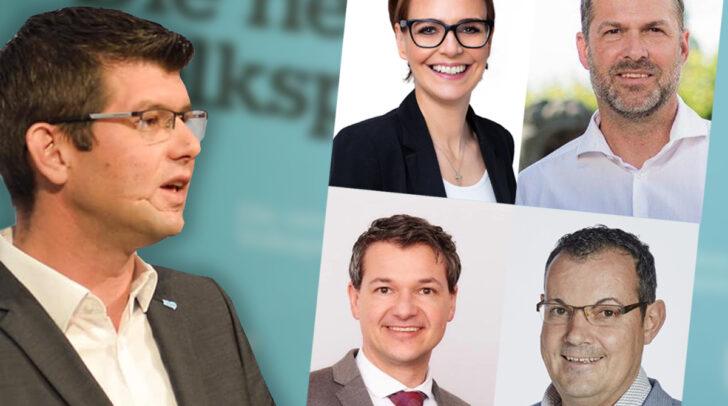 Griff innerhalb von drei Tagen voll durch: Martin Gruber (links) sorgte in den Städten Villach, Klagenfurt und Spittal für Veränderungen in den eigenen Reihen.