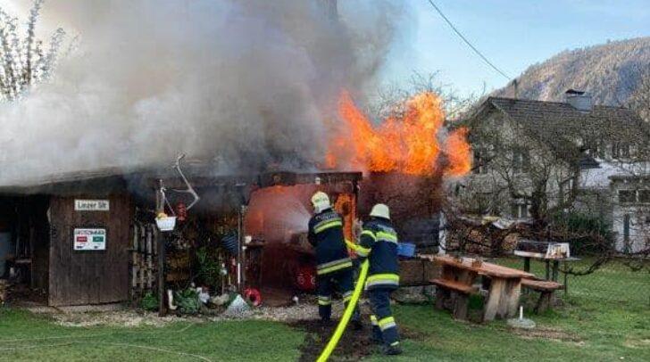 Durch das rasche Einschreiten der Einsatzkräfte konnte ein Ausbreiten der Flammen verhindert werden.
