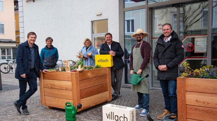 Am Bild v.l.: AK-Präsident Günther Goach, Wolfgang Faller, Vizebürgermeisterin Irene Hochstetter-Lackner, Bürgermeister Günther Albel, Roman Hudisch und Mario Drussnitzer.