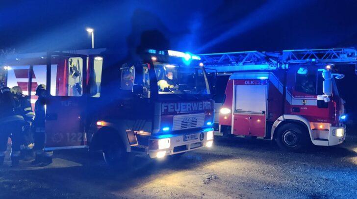 Drei Feuerwehren befanden sich im Einsatz.