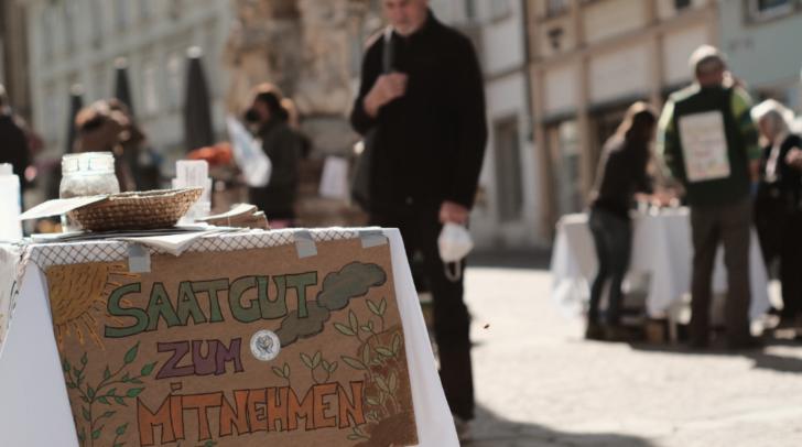Am kommenden Freitag verschenkt Verantwortung Erde sortenreines Saatgut am Villacher Hauptplatz.