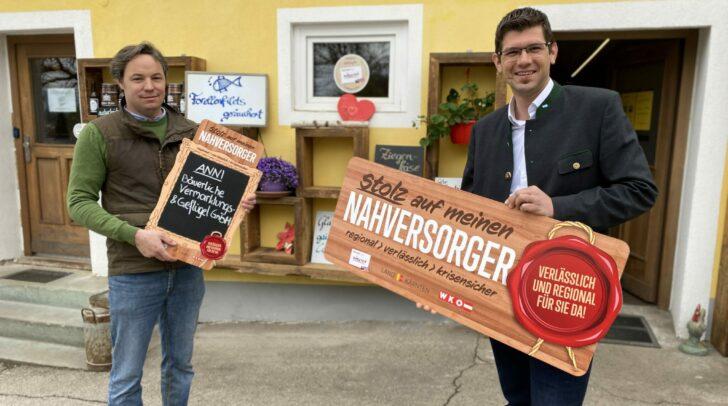 Inhaber Adrian Reichhold und Landesrat Martin Gruber.