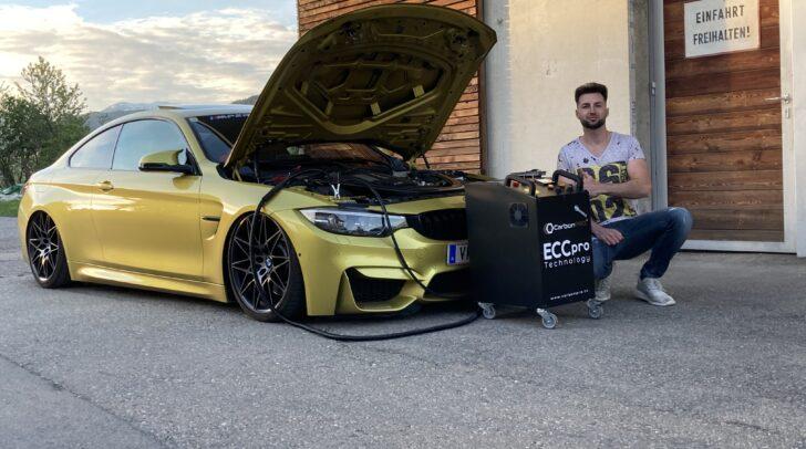 Der erst 25-Jährige Omar Medjic hat die innovative Motorreinigung Carbon Cleaning nach Kärnten geholt.
