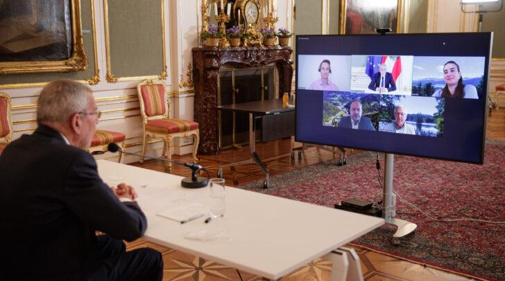 Am Montag lud Bundespräsident Alexander Van der Bellen vier Kärntner Bürgermeister zu einer Videokonferenz ein.