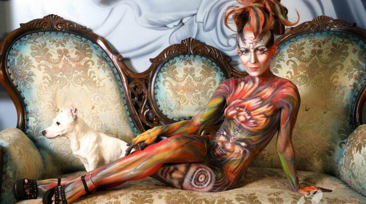 Auch heuer könnt ihr die Kunstwerke des Bodypaintings betrachten