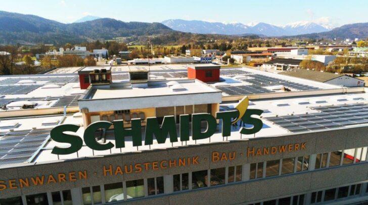 Auf dem Dach der Schmidt's Handelsgesellschaft in Klagenfurt wurden bereits Photovoltaik-Anlagen installiert.