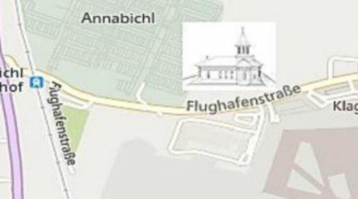 Hier wird das Kirchengebäude gebaut.