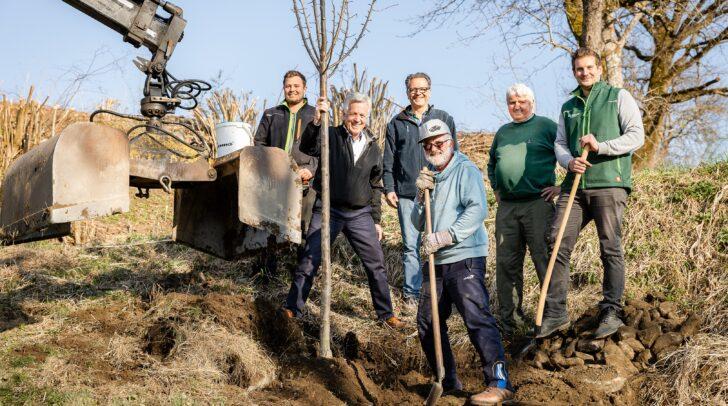 Stefan Leeb, Bgm. Herbert Gaggl, AL Norbert Pichler, Rainer Podgornik, Heinz Eichwalder und Frank Mattuschka (vl) freuen sich über das gelungene Projekt.
