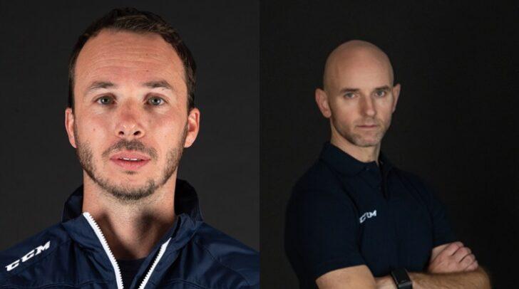 Marco Pewal (links) übernimmt zukünftig das U-20-Team des VSV, Patrick Machreich (rechts) bleibt weiterhin Goalie-Coach.